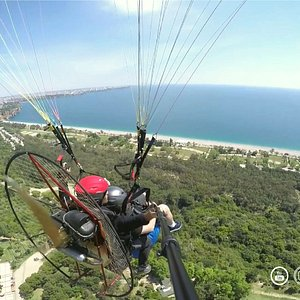 amazing paragliding flight antalya
