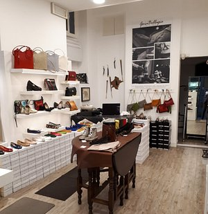 Gaia Bellagio. Leather shoes and bags