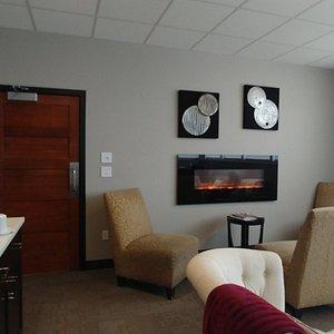 Waiting area between treatment