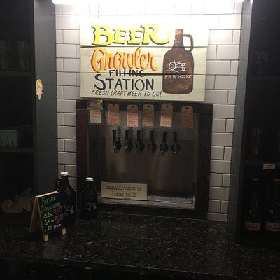 Growler station and wine tasting