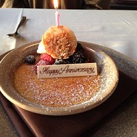 Happy Anniversary Creme Brulee!