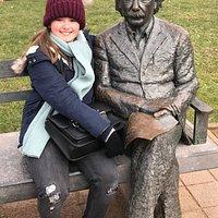 Einstein statue De Haan