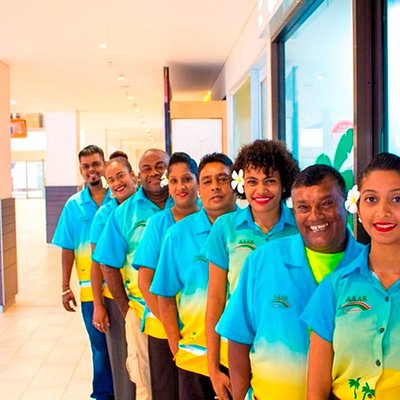 Cheerful Go Local Fiji staff ready to meet and greet you upon your arrival at the Nadi Airport