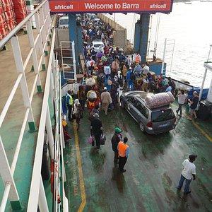 Barra disembarkation
