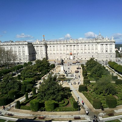 Vista del palacio Real.