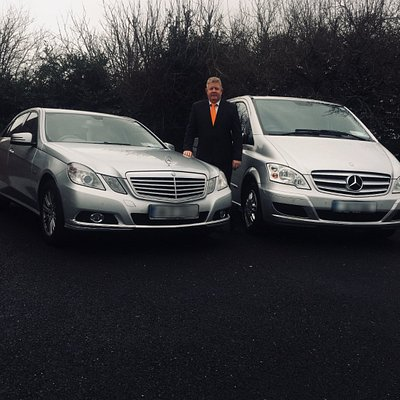 Frank Hughes with two of our luxury chauffeur vehicles.