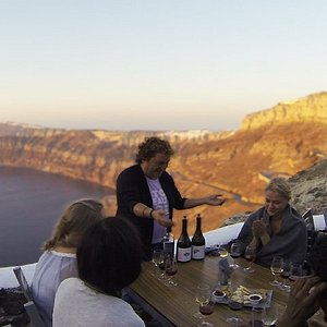 Wine tasting from our tour Santorini Highlights Tour.  #santorini_highlights_tour
