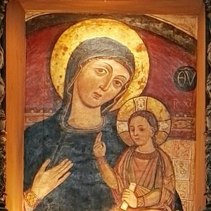 Icona bizantina della Madonna della Croce (affresco, fine XIII secolo)