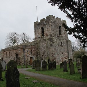 This is St. Michael's church with its crenallated Peel Tower.