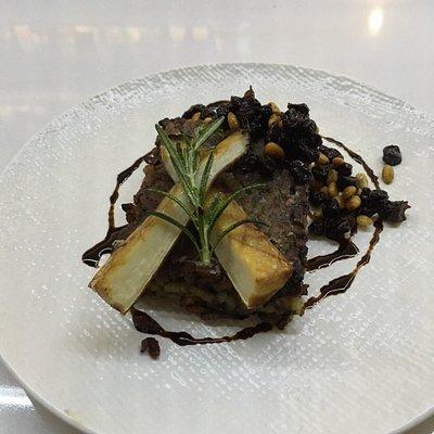 Fantastic food too - pan fried risotto
