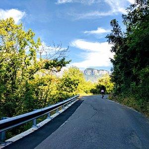 Beautiful cycle tour in Liguria, italy