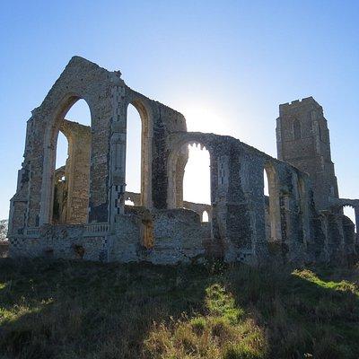 The dramatic church ruins.