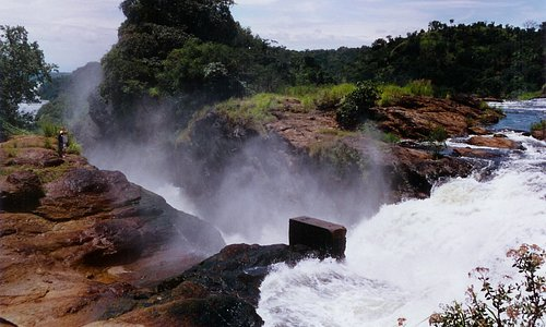 Views of the world's strongest murchison falls in Uganda