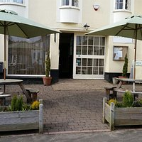 Why not enjoy the summer in front of Bistro 34.