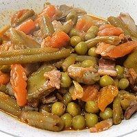 Menestra de verduras con bacon