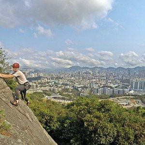 Beacon Hill Crag climbing