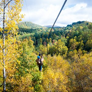 The Squealing Mare offers up majestic Fall views of the changing foliage and surrounding mountai