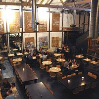 Repurposed warehouse chic. Urban, foodie heaven.