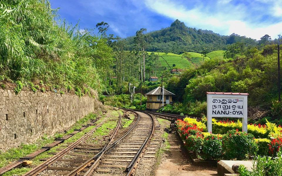 The beautiful railway station near Nuwara Eliya where one can catch a train to Ella
