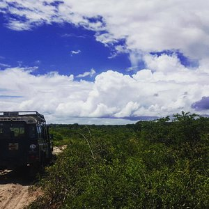 Beautiful Zululand skies over our expedition vehicle.