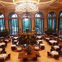Restaurante Crystal Court, no The Palace Hotel, em Sun City - África do Sul.
