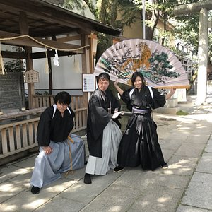 殺陣ショーを見た後は、侍体験ができるとっても楽しい侍の皆さんでした。