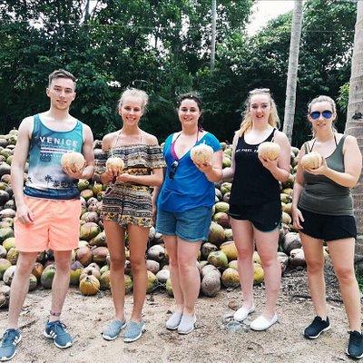 At Coconut farm.