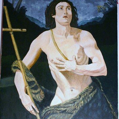 Opera esposta ad Arbus nella Pinacoteca di Giuseppe floris serra