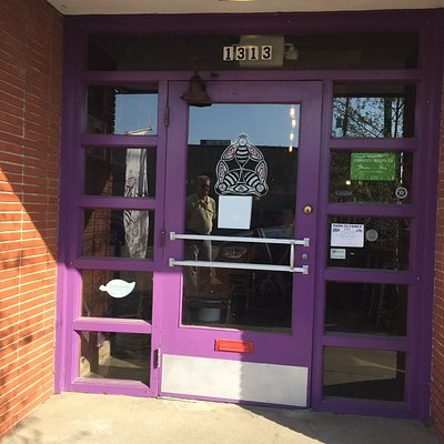 Welcoming front door and logo of Black Heath Meadery