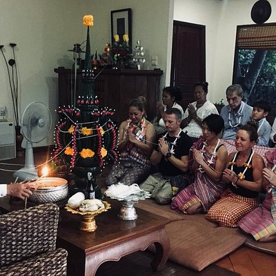 Thai Blessing Ceremony (Bai Sri Su Kwan) - A ceremony for friendship, prosperity, wellness and l