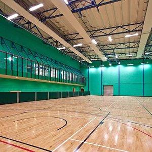 4 badminton court sized sports hall