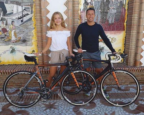 2 race bikes hired to explore the Axarquia