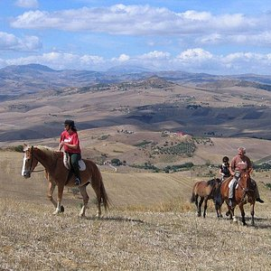 Superb views and outstanding riding in the Sicilian hills...