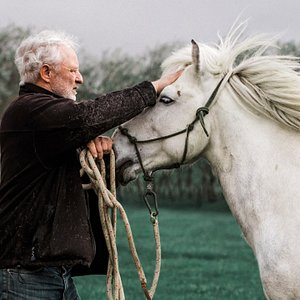 The owner, Einar with his horse