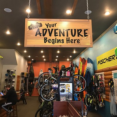 Outdoor gear sales, rentals and guided tours.  Full service bicycle shop.