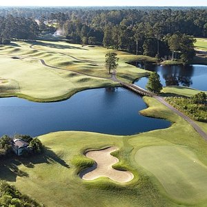 Panther's Run 18th green and 10th tee
