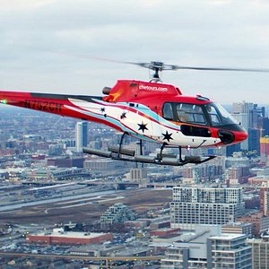 Chicago skyline helicopter tour