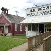 The grocery store and one room school house on display at the museum provide a glimpse of the pa
