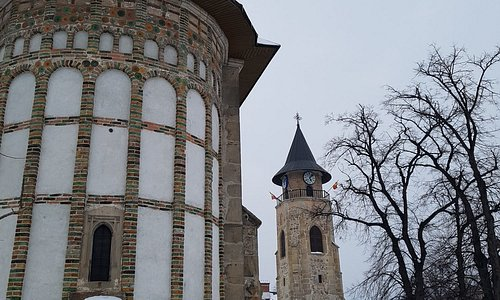 The tower and the church of St. John the Baptist