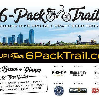Six 8oz. Brews + Dinner, Tours twice a month March thru October! Sign Up at 6packtrail.com