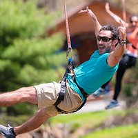 Zip over the river and through the woods at Camelback Mountain Adventures