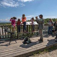 """point de vue à """" l'entonnement """" sur la réserve naturelle"""