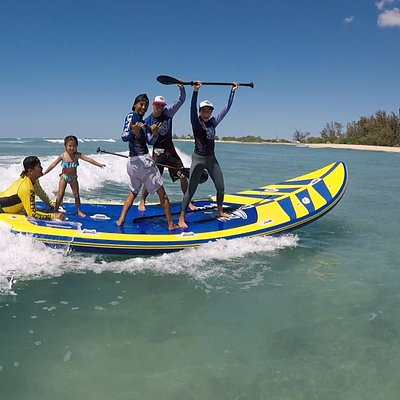 Come experience our SUPSQUATCH SESSIONS exclusively at Let's Surf HI