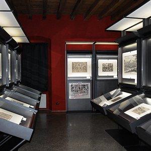 Pinacoteca Repossi: la suggestiva sala delle stampe