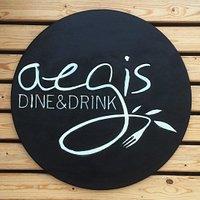 Aegis Dine&Drink, sign & logo