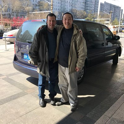 English speaking driver with a customer from London, UK
