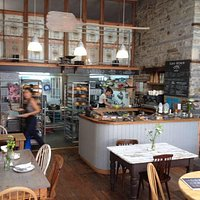 open kitchen and bakery fuses old and modern