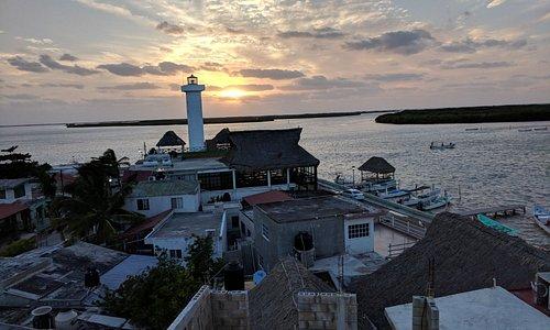 Sunset at Rio Lagartos