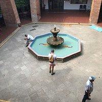 Charming City Hall courtyard
