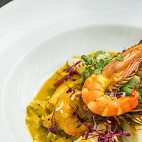 Poached Hake and Prawn Tumeric Spiced Curry